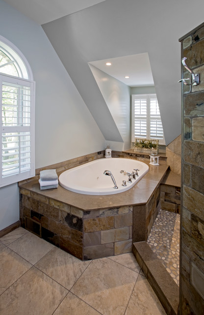 Natural Simplicity Master Bath Remodel Chester Springs Pa Eclectic Bathroom Philadelphia