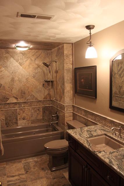 natural stone bathroom remodel | freeport, illinois - traditional