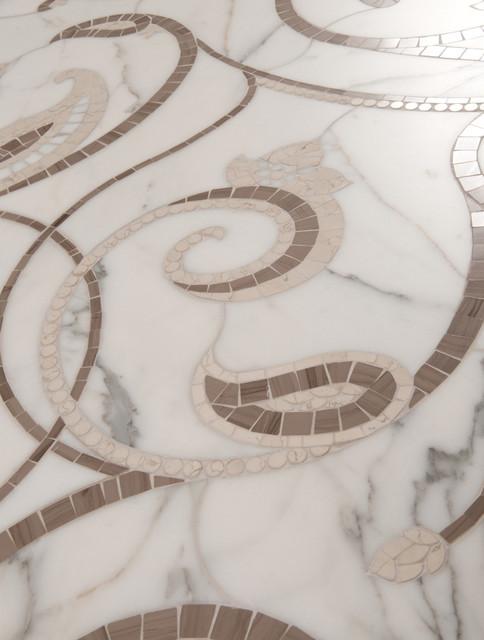 Natural Stone Mosaics & Waterjet Patterns contemporary-bathroom