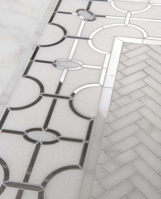 Marble Floor Inlay Cutting : Natural stone mosaics waterjet patterns