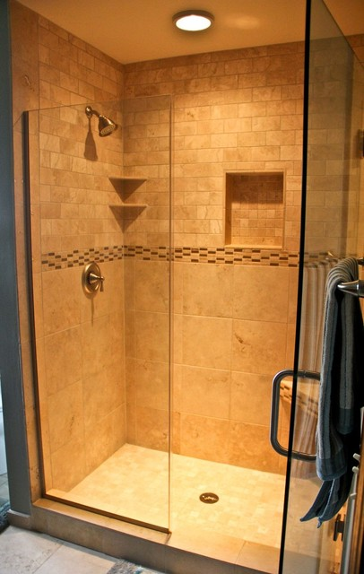 Natural Stone Walk In Shower - Traditional - Bathroom - Other - By