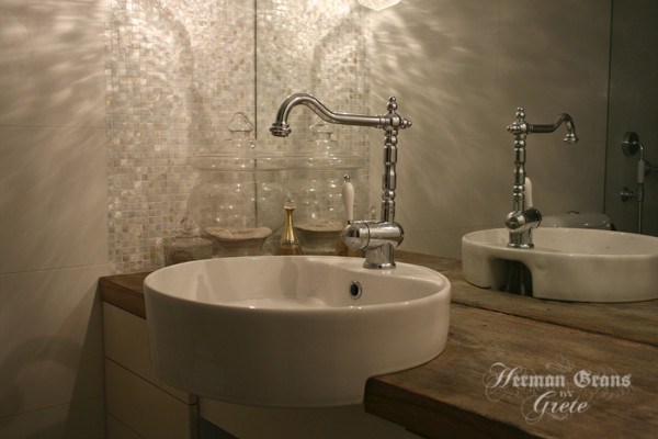 Natural White Mother Of Pearl Bathroom Contemporary Bathroom Part 34