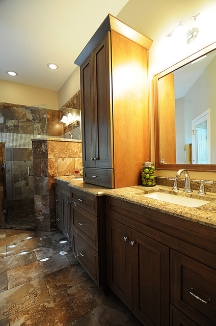 Naturally Matched Master Bath traditional bathroom