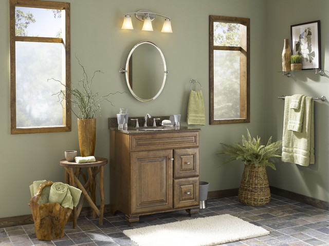 NatureInspired Bathroom With Mixed Materials Tropical Bathroom - Valspar bathroom paint