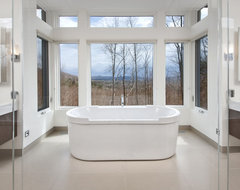 Nature's Drama: Laurentian Long House contemporary bathroom