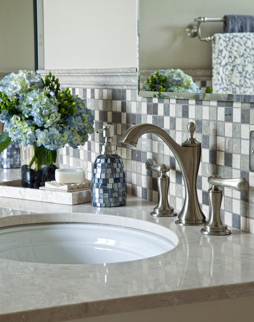 Natures Beauty Of Limestone - Modern - Bathroom - chicago - by Ashley Avery, Palmetto Cabinet Studio