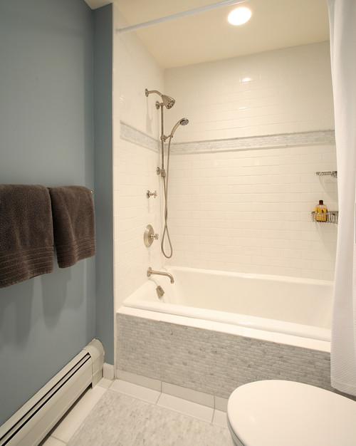 μπάνιο, πλακάκια μπάνιου, τουβλάκια στο μπάνιο, επένδυση με τουβλάκια, διακόσμηση μπάνιου, ιδέες για το μπάνιο