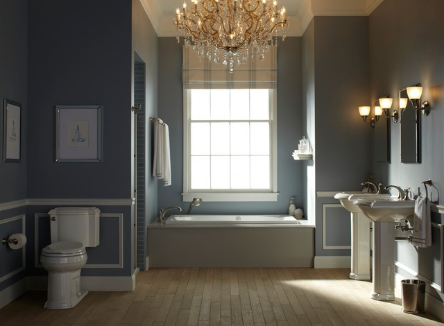 Nautical Blue Bathroom Traditional Bathroom Other