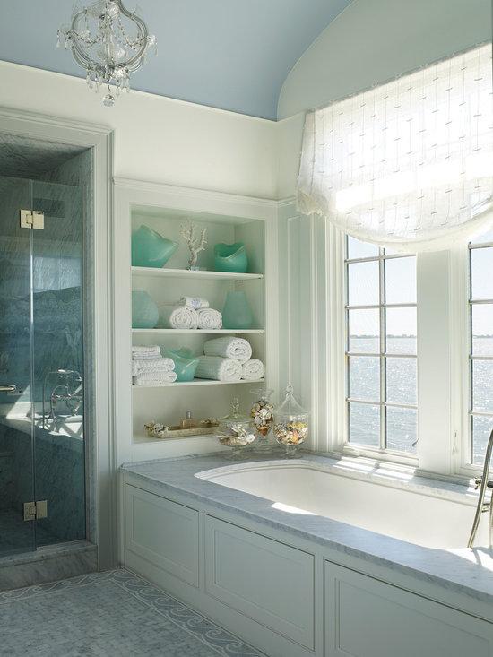 Photos et id es d co de salles de bains et douches bord de - Deco bord de mer salle de bain ...