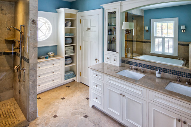 Neoclassical home traditional bathroom new york by for Bathroom remodel 10k
