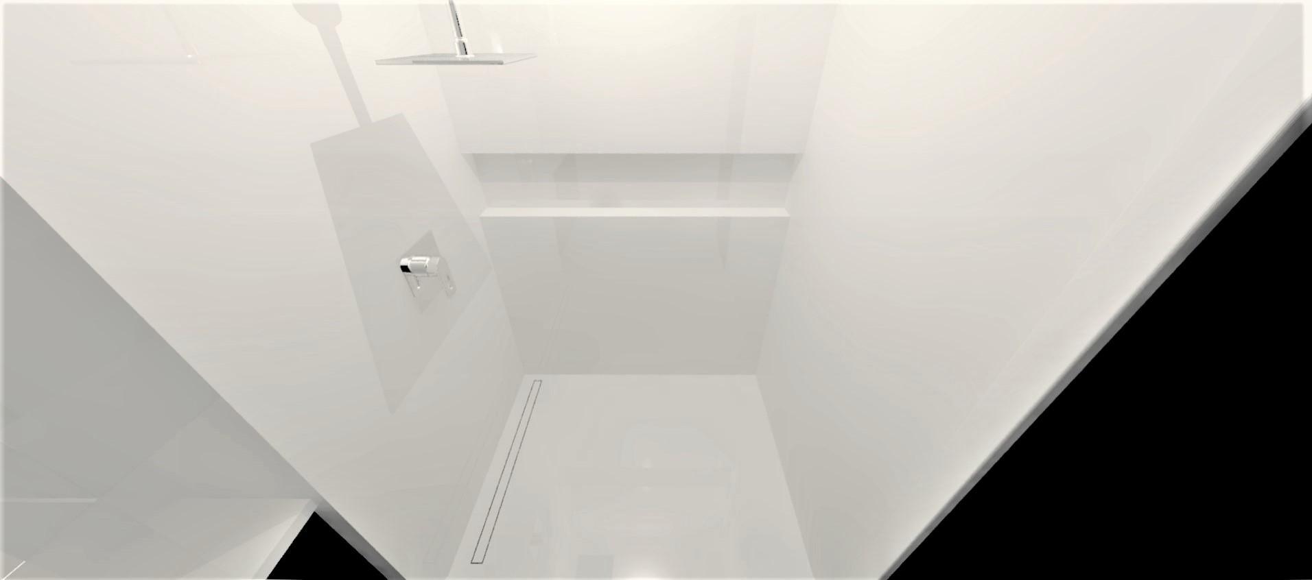 Neolith Arctic White Bathroom