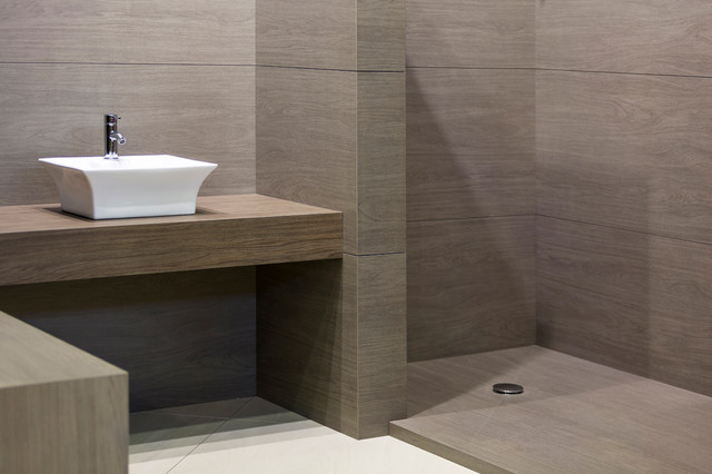 NEOLITH Porcelain SLAB And Tile Contemporary Bathroom New York