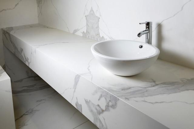 Neolith Porcelain Slab And Tile Contemporary Bathroom