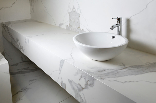 NEOLITH Porcelain SLAB And Tile Contemporary Bathroom