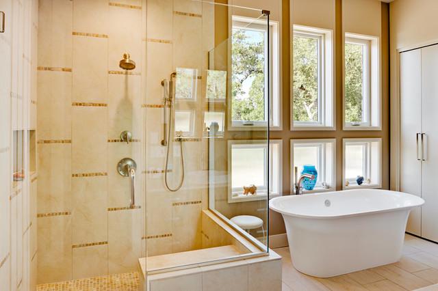 Net zero house austin area contemporary bathroom for Danze e davis architects