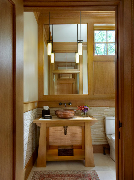 New arts and crafts house traditional bathroom for Arts and crafts style bathroom design