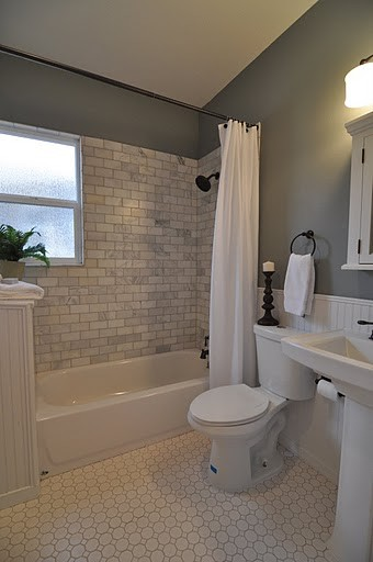 New bathroom in century old home traditional-bathroom