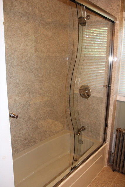 Amazing Cleaning Bathroom With Bleach And Water Small Kitchen And Bath Tile Flooring Clean Ugly Bathroom Tile Cover Up Clean The Bathroom With Vinegar And Baking Soda Old Renovation Ideas For A Small Bathroom BlackLowe S Canada Bathroom Cabinets New Bathtub With \u0026quot;S\u0026quot; Shower Door   Traditional   Bathroom   Other ..