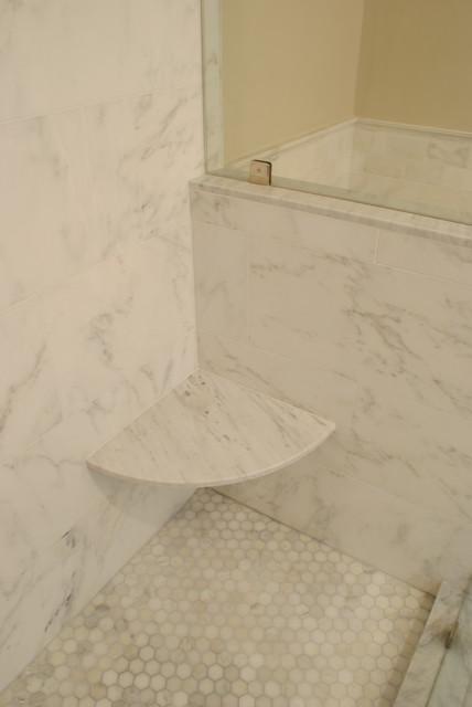New Calacatta Marble Master Bathroom