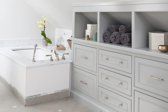 New canaan bath traditional bathroom bridgeport by for Built in bathroom vanities and cabinets