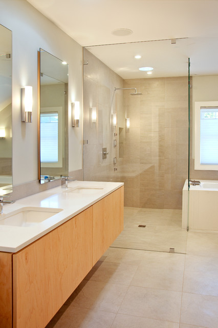 New Castle Modern Modern Bathroom Portland Maine By Marcye Philbrook