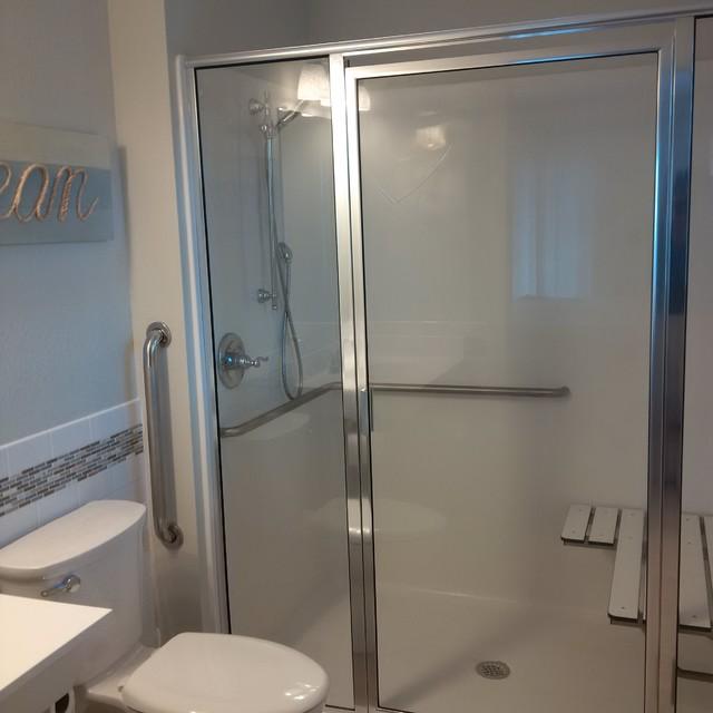 Steps to a coastal bathroom decor home improvement home decor - New Construction Beach Home
