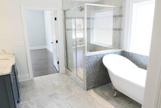 New construction traditional bathroom birmingham for Bathroom builders birmingham