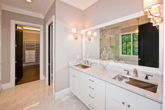 New construction contemporary bathroom