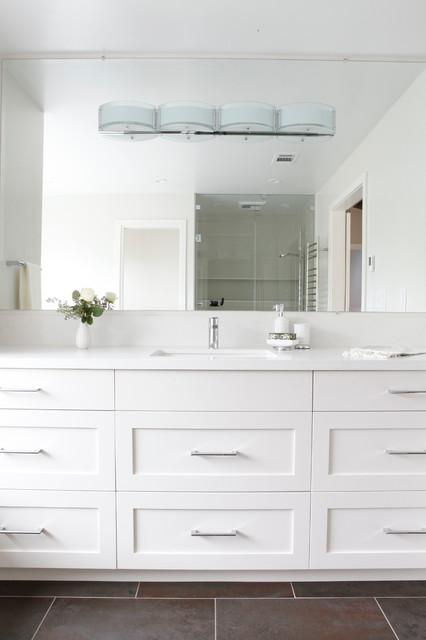 New contemporary master bath in lafayette ca for Bath remodel lafayette la