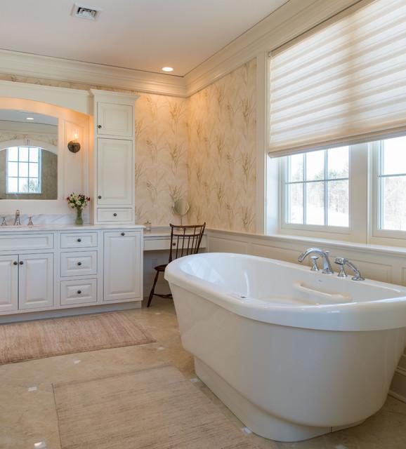 New england colonial traditional bathroom boston for New england bathroom ideas