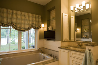 New England Cottage Contemporary Bathroom Other By