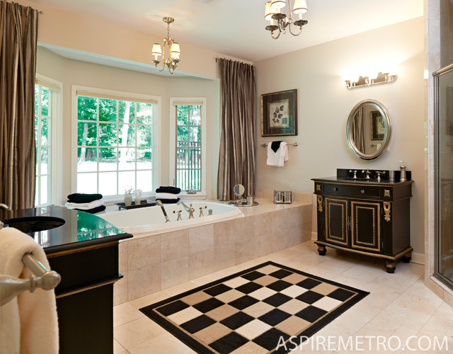 New Georgian Home in Princeton traditional-bathroom