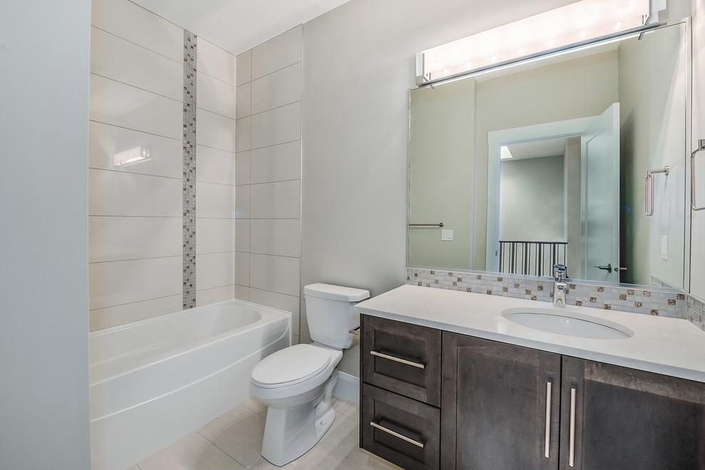 New Home Build, Calgary AB - Contemporary - Bathroom ...