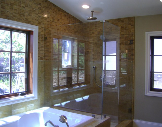 New House in Cupertino traditional-bathroom