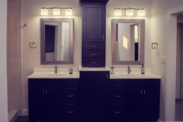 New Master Bathroom Addition With His And Her Sinks Dark