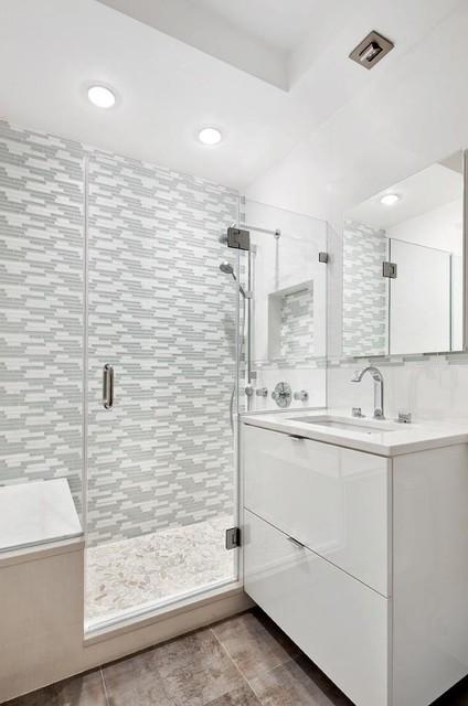 New Midtown East Bathroom Renovation - New York contemporary-bathroom