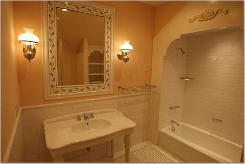 "New ""Old"" House - Linville traditional-bathroom"