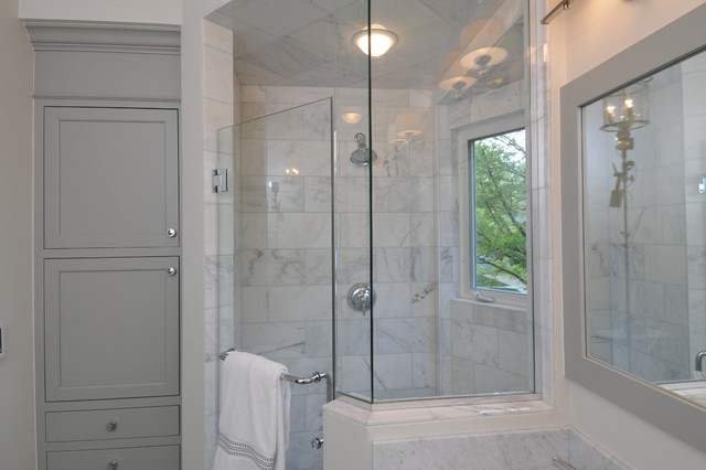 New Old House Master Bath Traditional Bathroom Chicago By The Kitchen Studio Of Glen Ellyn