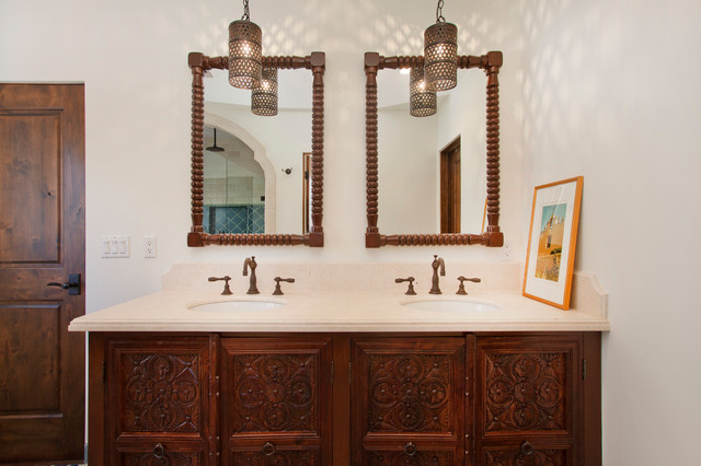 Spanish Mediterranean Bathrooms: New Spanish Colonial