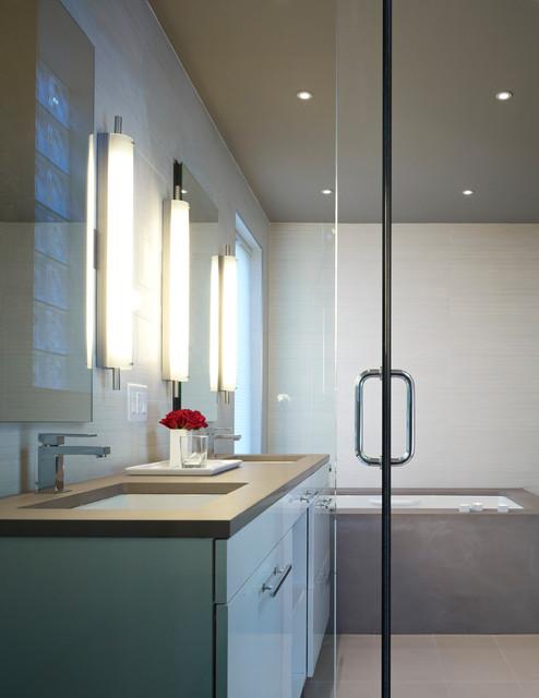 Ravenswood - Chicago Conversion contemporary-bathroom