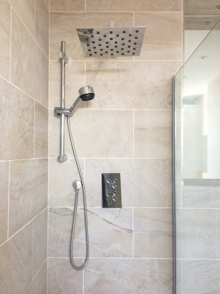 New walk-in shower & Chrome Fittings - Modern - Bathroom ...