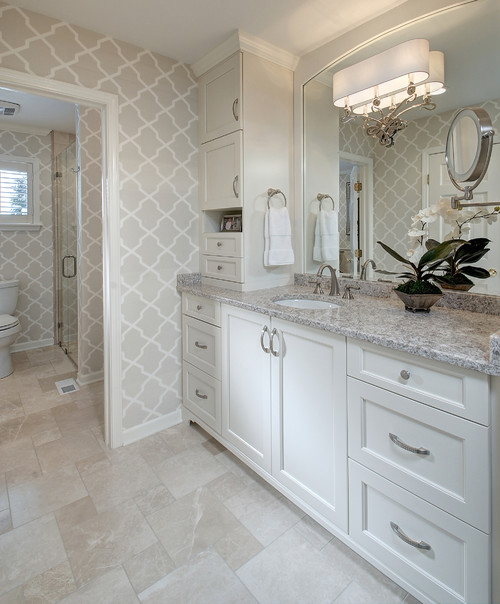 Gray and White Bathroom Pairing
