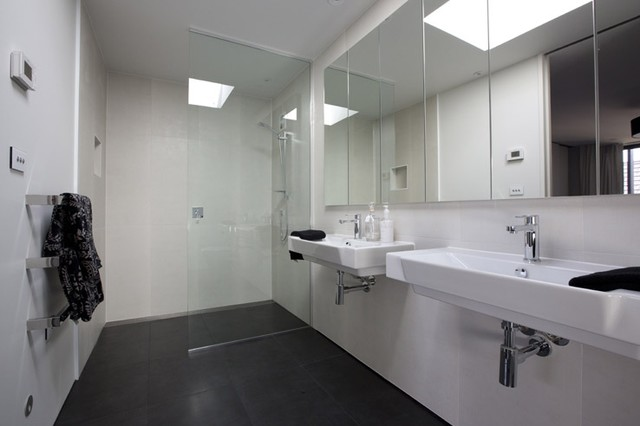 New York Nero Shellac Tiled Bathroom 5 Lombardia Way Karaka Contemporary Bathroom