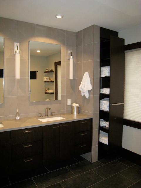 New York Renovation Contemporary Bathroom New York By Joan Lombardi Design