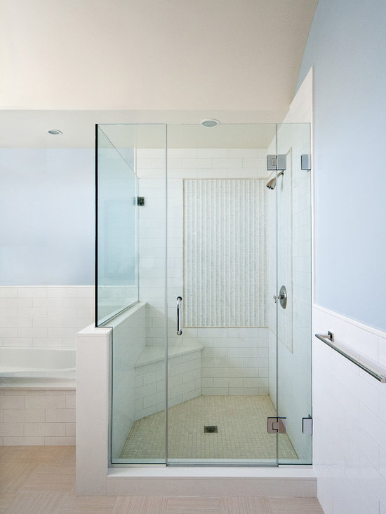 Frameless Shower Door Home Design Ideas, Pictures, Remodel and Decor
