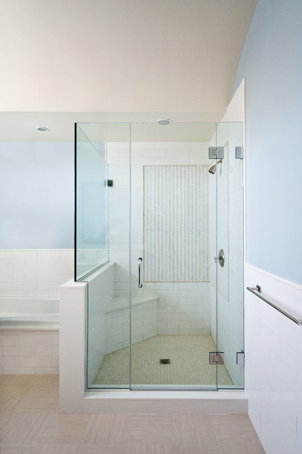 Bathroom Knee Wall new york shower door - contemporary - bathroom - new york -new