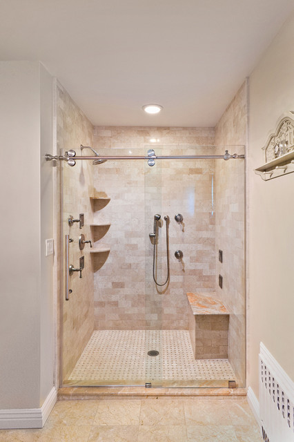 Charming New York Shower Door Contemporary Bathroom