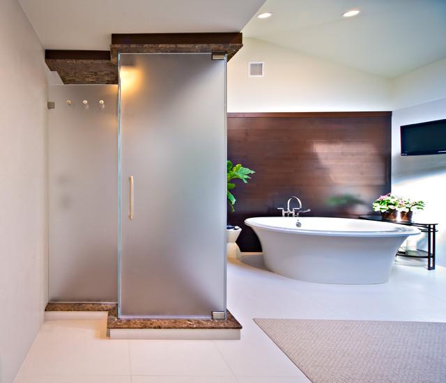 New York Shower Door Contemporary Bathroom New York