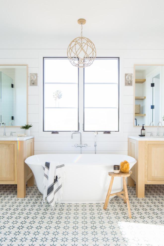 Newport Island Residence - Farmhouse - Bathroom - Orange ...