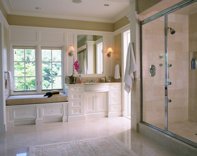 Newton Residence traditional bathroom